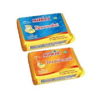 Сир плавлений 55% Голандьский або Вершковий Milker 90 г