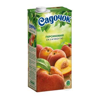 Нектар мультифруктовий, яблучно-виноградний, сік томатний, персиковий Садочок 0,95л