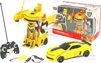 Трансформер на р/к MZ Chevrolet Camaro Yellow 1:22 2342X
