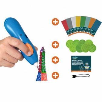 3DS- MEGA-E-R 3D-ручка для дитячої творчості МЕГАКРЕАТИВ 192 стрижня, 8 шаблонів