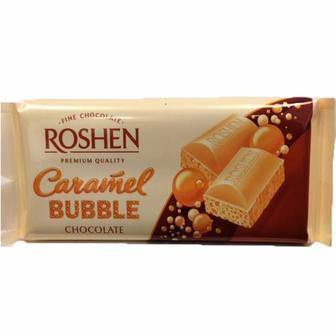 Шоколад пористий білий карамель 85г