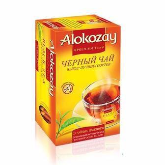 Чай чорний або зелений   Alokozay 25 пак