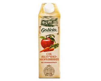 Сік Galicia яблучно-морквяний прямого віджиму, 1л