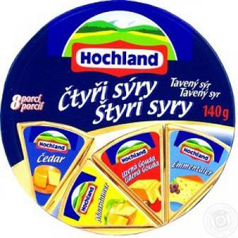 Сир Hochland вершковий/ Quattro mix Асорті/ Асорті 4-и сири 140г