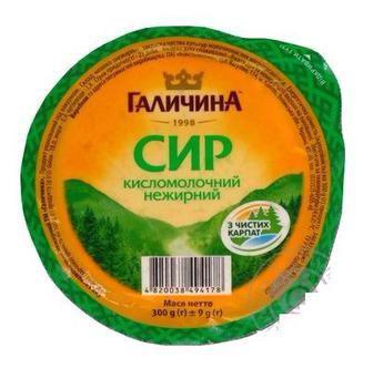 Сир кисломолочний нежирний  Галичина  300 г