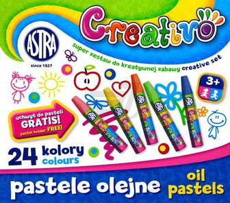 Пастель олійна Creativo 24 кольори Астра
