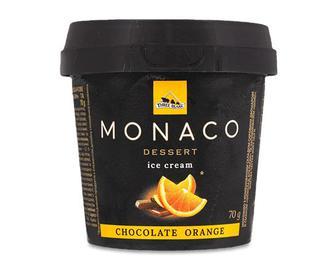 Скидка 44% ▷ Морозиво «Три Ведмеді» Monaco Dessert шоколад-апельсин, 70г