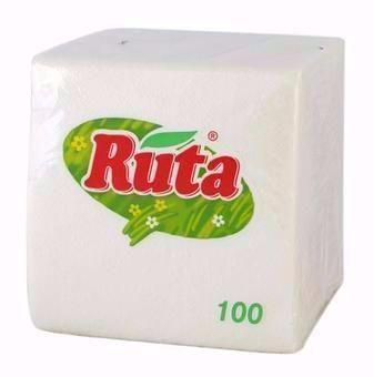 Серветки столові білі 100 шт  Ruta