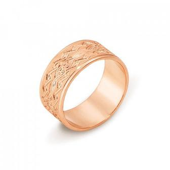 Обручальное кольцо с алмазной гранью. Артикул 10101/6