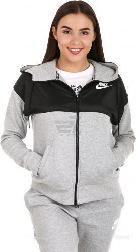 Скидка 50% ▷ Джемпер Nike W NSW AV15 HOODIE FZ 829407-063 р. XS сірий
