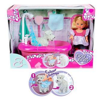 Кукла Ева с набором для купания щенка который меняет свой цвет Simba (5733094)