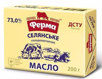 Масло селянське Ферма 63% 200г