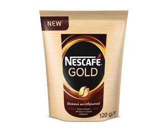 Скидка 35% ▷ Кава розчинна Nescafe Gold, 120 г