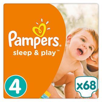 Підгузники Pampers Sleep&Play Jumbo Maxi, 68шт/уп