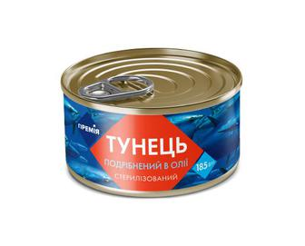 Тунець подрібнений в олії «Премія»®, 185 г