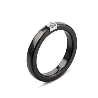Скидка 10% ▷ Серебряное кольцо с керамикой и фианитом. Артикул К2ФК/1008-16