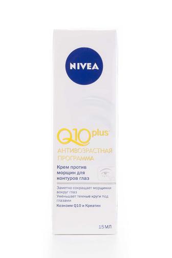 Крем для кожи вокруг глаз Nivea Visage от морщин Q10 Ю, 15мл