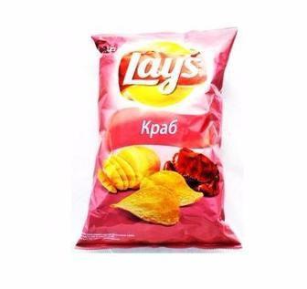 Чіпси картопляні Lay's зі смаком сиру, краба, паприки, зеленні і сметани 133г