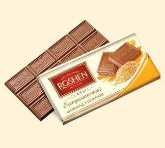 Шоколад ROSHEN екстрамолочний з сезамом 90г