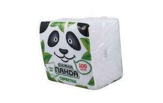 Салфетки Сніжна панда белые 1 слой 100шт