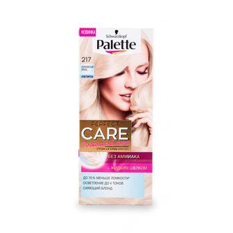 Краска для волос Palette Perfect Care тон 217 Серебристый блонд