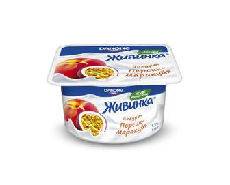 Йогурт молочний «Живинка» 1,5% жиру персик-маракуйя, 115 г