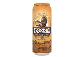 Пиво Velkopopovitsky Kozel світле, з/б, 4%, 0,5л