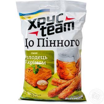 Сухарики зі смаком холодцю з хріном/мисливських ковбасок 70г ХрусTeam