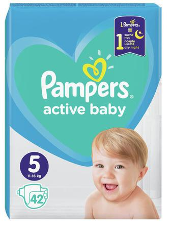 Подгузники PAMPERS Active Baby-Dry р5 11-16кг 42шт