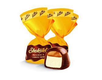Конфета SHOKOTEL` нуга-желе со вкусом груши Конти 100 г