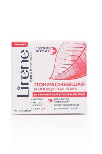 Крем для лица Lirene для капиллярной кожи универсальный Разглаживающий укрепляющий, 50мл