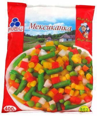 Овочева суміш Мексиканська Рудь 400г