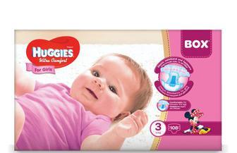 Підгузки Huggies Box Ultra Comfort для дівчаток, 3 (5-9 кг) 108 шт./уп