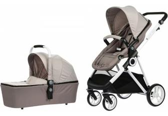 Дитяча коляска універсальна 2 в 1 Miqilong Mi baby T900 бежевий (T900-U2BG01)
