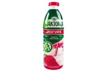 Йогурт клубника, 1,5%/ Лактонія 0,87 кг