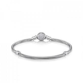 Срібний браслет для бусин з фіанітами. Артикул MB10547AA-B/12/1
