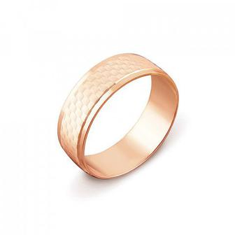 Обручальное кольцо с алмазной гранью. Артикул 1070/1