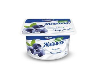 Йогурт молочний «Живинка» 1,5% жиру чорниця, 115 г