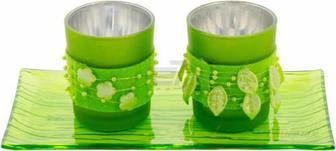 Набір свічників Зелені EBA410050