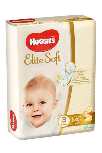 Подгузники Huggies Elite Soft р3 5-9 кг 80 шт