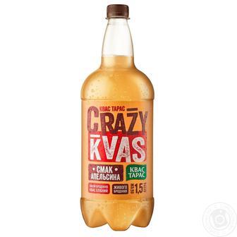 Квас чорний або Crazy Kvas зі смаком апельсину Квас Тарас 1,5 л