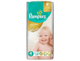 Подгузники PAMPERS Premium Care р4 7-14 кг 52 шт