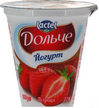 Скидка 16% ▷ Йогурт Дольче персик-маракуйа/полуниця/з наповнювачем ківі 3,2% 280мл