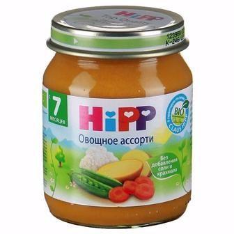 Овочеві пюре Hipp