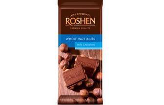 Шоколад молочний з цілим лісовим горіхом 90г
