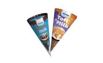 Скидка 35% ▷ Морозиво пломбір Тофі енд мілк, Чоко енд мілк Лімо, 70 г
