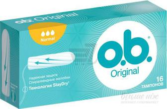 Тампони гігієнічні o.b. Original normal 16 шт.