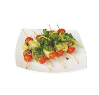 Фрикадельки м'ясні запечені з овочами 100 г