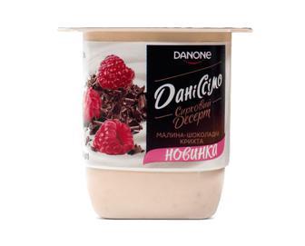 Десерт сирковий «Даніссімо» 3,2% жиру «Малина та шоколадна крихта» 125г