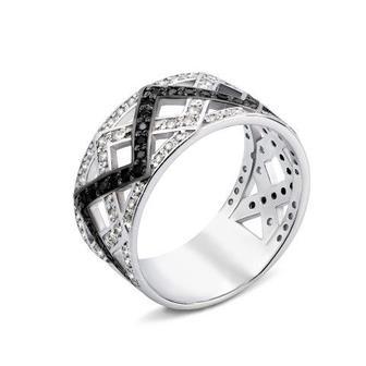 Серебряное кольцо с фианитами (00694/12/1/440)